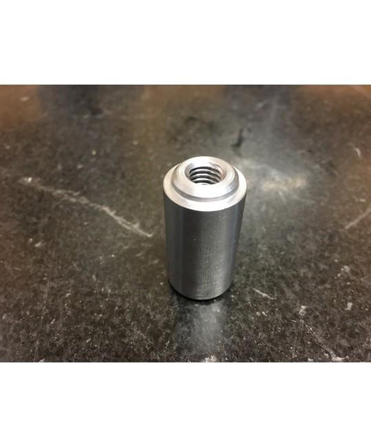 insert fileté M8 pour support de siège dans tube de 35mm