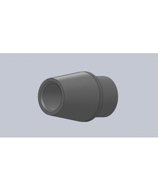 Canon fileté conique M16x150 à gauche pour tube Ø30x2